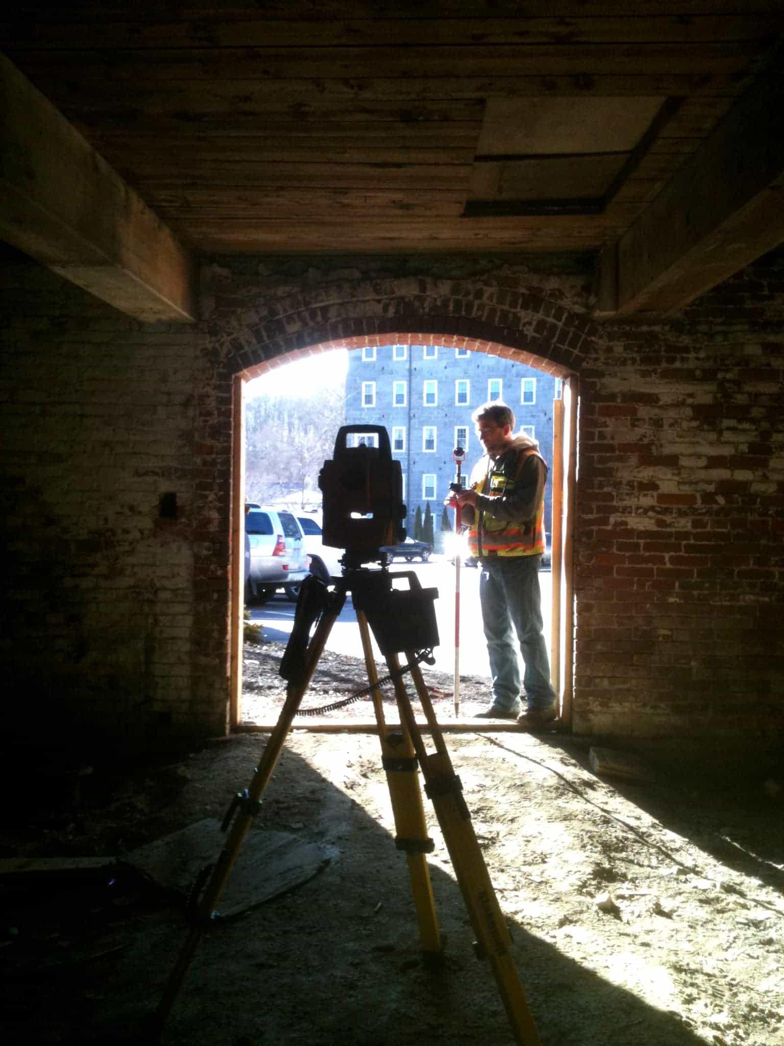 Surveyor in Doorway